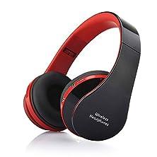 buy Tmalltide Universal Bluetooth Wireless Headset Stereo Headphone Earphone For Smartphone (Red)