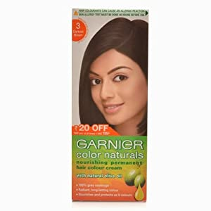 Garnier Color Naturals Permanent Hair Colour Cream - Darkest Brown 3 40g