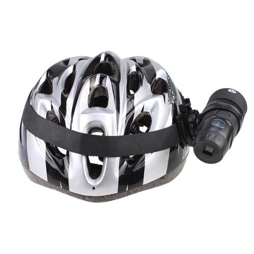 Agptek® Cmos Waterproof Outdoor Sport Bike Helmet Action Camera Cam Dvr Built-In Microphone Black Color And New Mens Bicycle Helmet Bike Cycling Adult Ultra-Light Visor Pvc Eps Black With Silver (Ce Certificated)