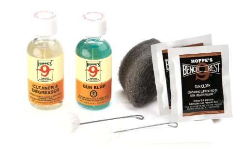 Hoppe's Refinishing Blue Gun Kit, Clam E/F