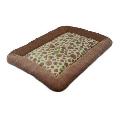 Precision Pet Low Bumper Corduroy Bed, Size 4000, Green Spot Plush Tan (Precision Pet Bumper Pillow Bed compare prices)