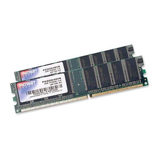 Patriot Signature 2 GB PC-3200 DDR-400MHz Dual Channel Memory Kit - PSD2G400K