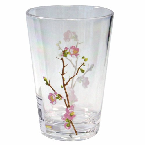 Corelle Coordinates Cherry Blossom 8-Ounce Acrylic Glass, Set of 6