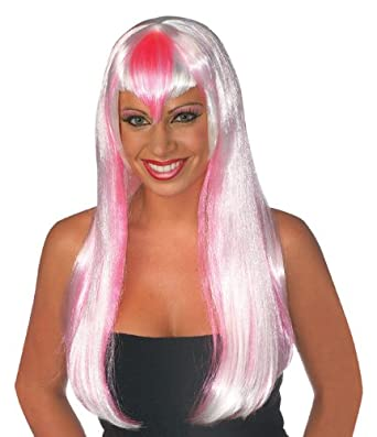 Rubie's Costume Strawberry Frost Wig, White/Pink, One Size