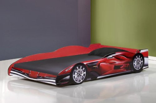 Jenson 3ft Single Childrens Red Racing Car Bed
