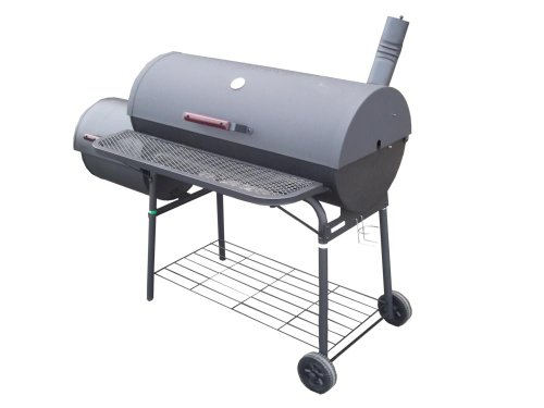 Cylinder Shaped Luxury Large Charcoal BBQ with Smoker
