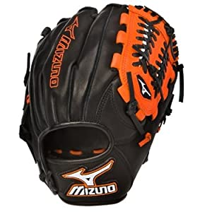 Mizuno MVP Prime SE GMVP1154PSE Infield Glove 11.5 Baseball Glove (Black/Orange, Right Hand Throw)