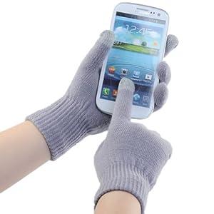 better.dealz - Gant Chuad À Écran Tactile Smartphone itouch ipad iphone Samsung HTC etc - Unisexe Femme Homme (Gris)