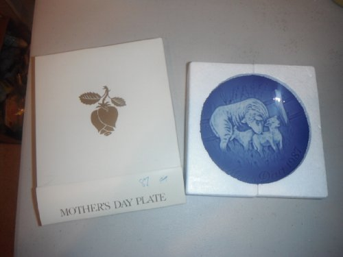 1987 Mothers Day Plate Bing & Grondahl -- Ewe and Twin Baby Lambs