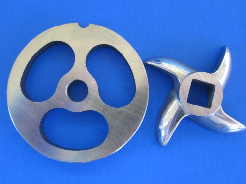 #5 Sausage Stuffer Plate And Knife For Chefs Choice Meat Grinder & Food Chopper That Fits Kitchenaid Mixer