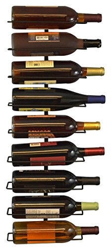 Southern Homewares Wall Mount Wine Bottle Storage Rack, Holds up To 9 Bottles (Wall Mount Wine Storage compare prices)
