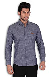 Kivon Men's Blue Casual Shirt