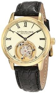 Stuhrling Original Men's 312.333515 Tourbillon Dominous Limited Edition Mechanical Gold Tone Watch