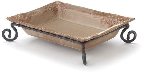 Caffco International BLT1103047 Biltmore Inspirations Collection Olmsted Oak Baking Dish with Stand