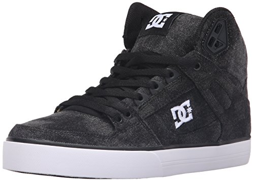 DC Men's Spartan High WC TX SE Skate Shoe, Black Acid, 7 M US