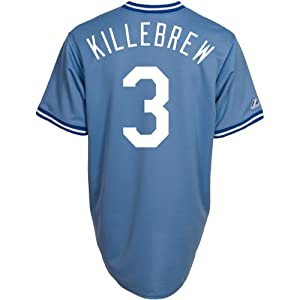 Majestic Mens Kansas City Royals Replica Harmon Killebrew Cooperstown Road Jers by Majestic Athletic