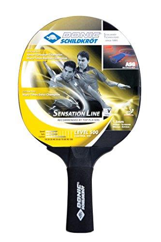 Donic-Schildkröt Tischtennis Schläger Sensation 500 ASG Anti Shock Grip, Schwarz, One Size, 714402