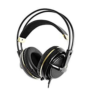SteelSeries Siberia V2 Full-Size Gaming Headset (Black and Gold) Color: Black and Gold PC, Personal Computer