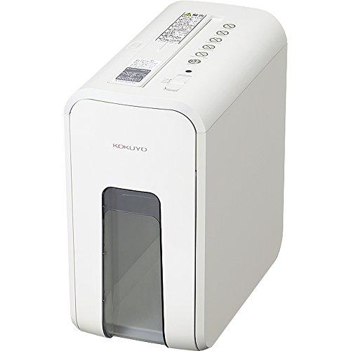 コクヨ 超静音 デスクサイドシュレッダー 最大裁断5枚 ホワイト AMKPS-X80W