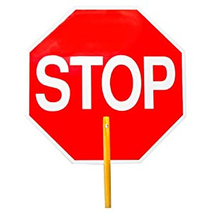 Hand Held Stop Sign For Traffic Control Stop/stop Each
