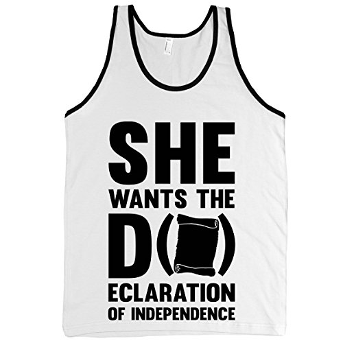 Human She Wants The D (Ecloration Of White/Black Small T-Shirt