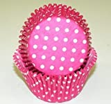 Oasis Supply 50 Count Baking Cups, Standard, Pink Polka Dot