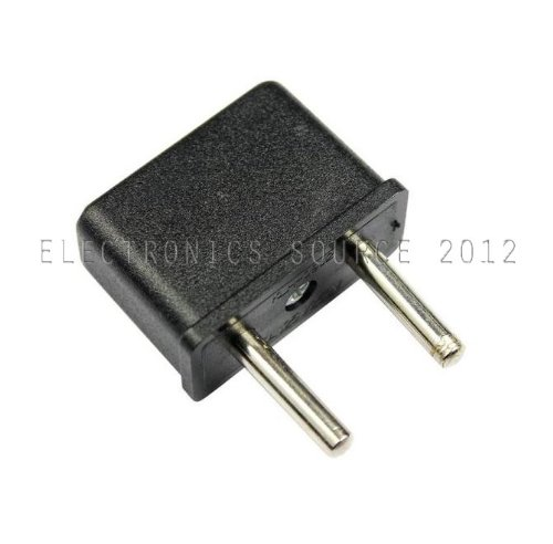 Plug Adapter For Usa Flat To Europe Round Pin