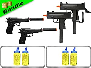 BBTac Pain 2 the Max Bundle with Dual M42F Spring Guns + Dual M22 M9 Spring Pistols + 8,000 Rounds of .12g BB's