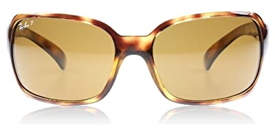 Ray-Ban RB4068 Highstreet Women's Polarized Sports Sunglasses - Havana/Crystal Natural Brown / One Size Fits All