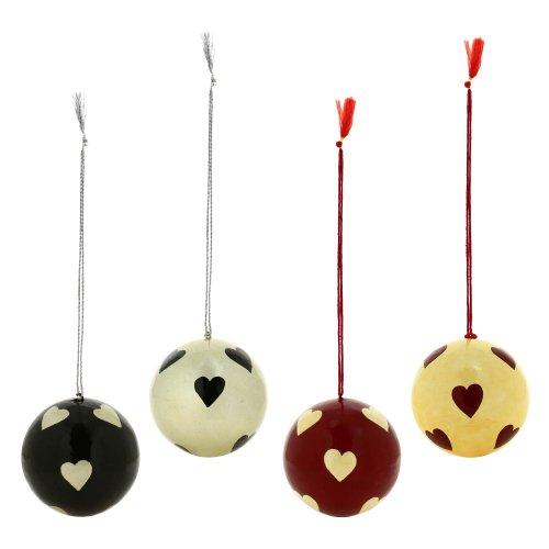Cuore decorazioni per la casa Paper Mache palle Set di 4