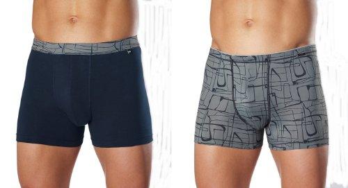 2 Götzburg Herren Slips Pants X-lastic Qualität blau / grau Gr. M