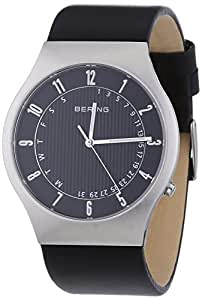 Bering Time 51840-402-UK Mens Black Radio Controlled Calfskin Leather Watch