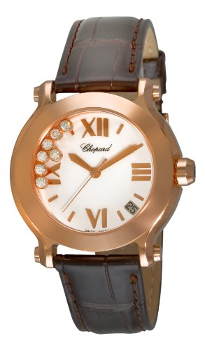 Chopard Women's 277471-5001 Happy Sport White Diamond Dial Watch