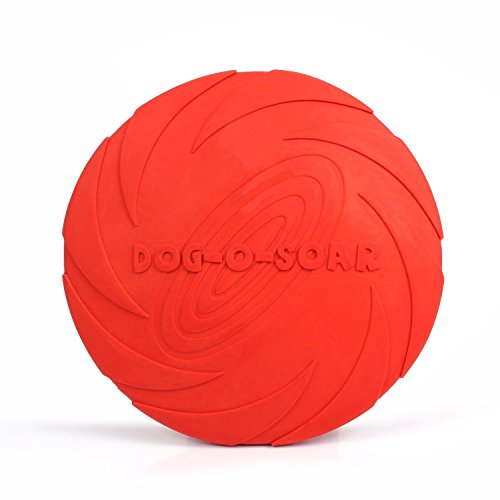 MaxS Rubber Food Induced Elastic Flyer Visual Excitement Pet Flying Disc Red