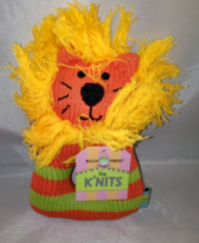 "6"" Soft Knitted Lion Rattle Plush - 1"