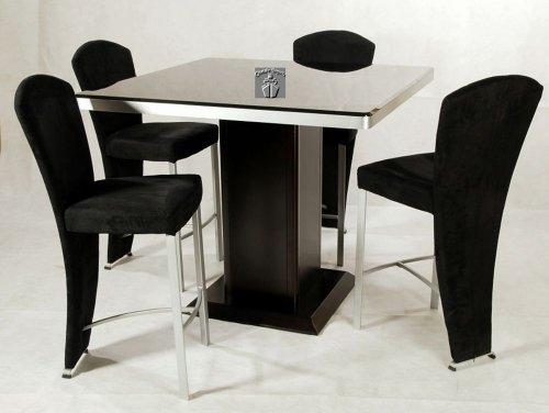 Cheap Monique Contemporary Square Pedestal Dining Table with Glass Top (MONIQUE-CNT)