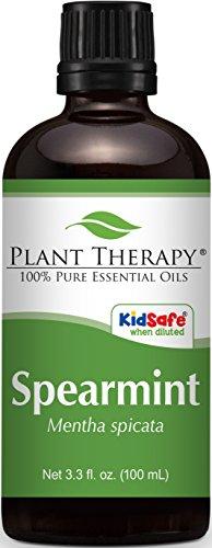 Spearmint Essential Oil. 100 ml (3.3 oz). 100% Pure, Undiluted, Therapeutic Grade.