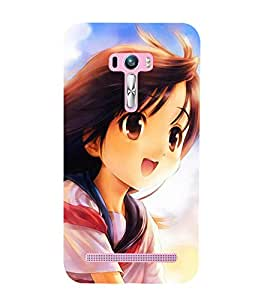 Vizagbeats Animated Girl Back Case Cover for Asus Zenfone Go::Asus Zenfone Go ZC500TG