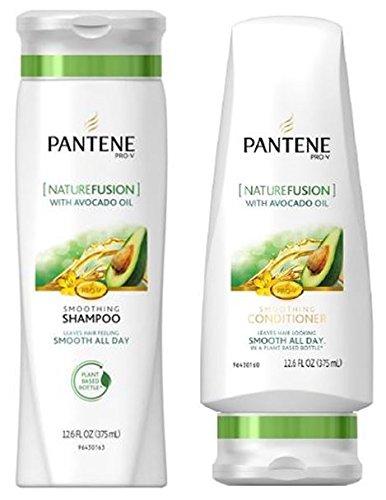 Pantene Pro-V Shampoo & Conditioner Set, Nature Fusion with Avocado Oil, 12 Ounce Each (Pantene Nature Fusion Conditioner compare prices)
