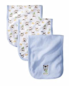 Gerber Baby 3 Pack Terry Burpcloths (Blue)