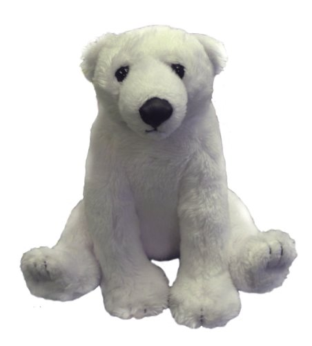 Stuffed Plush Baby Polar Bear (Smithsonian Institution Baby Animals Series) - 1