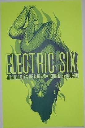 Electric Six Doug Fir Lounge Wildbunch Detroit Original Portland Concert Poster