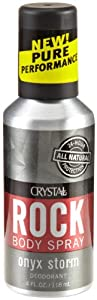 Crystal Rock Deodorant Body Spray Onyx Storm, 4 fl oz