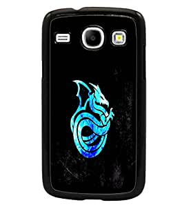 PrintDhaba Dragon D-1013 Back Case Cover for SAMSUNG GALAXY CORE i8262 (Multi-Coloured)