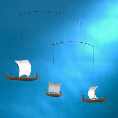 Viking Mobile with Three Ships