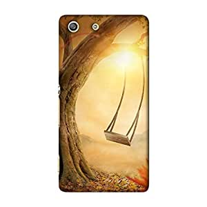 ArtzFolio Old Swing : Sony Xperia M5 Matte Polycarbonate ORIGINAL BRANDED Mobile Cell Phone Protective BACK CASE COVER Protector : BEST DESIGNER Hard Shockproof Scratch-Proof Accessories