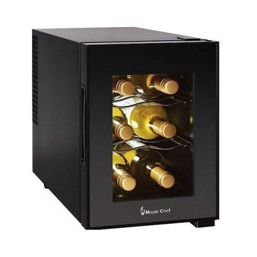 Compact 6 Bottle 2 Shelf Wine Cooler Cabinet Mini Refrigerator (Mini Beverage Bottles compare prices)