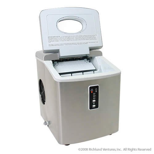 Kitchen Countertop Ice Maker : Ice-Cream Maker: EdgeStar Portable Ice Maker - Stainless Steel