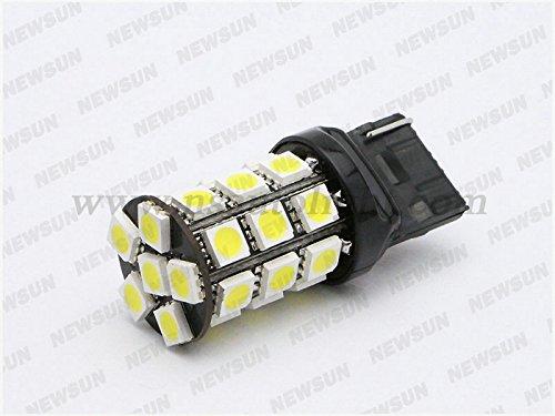 Newsun 2Pcs 7440 T20 W21W 27Smd 5050 Led Brake Tail Stop Turn Reverse Lights Bulbs Car Xenon White 6000K Super Bright 510Lm 12V Canbus Error Free Fog Lights