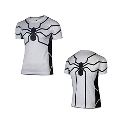 Men Marvel DC Superhero Comics Jersey Top Outdoor Sport T-Shirt Cycling Spider-Man White S